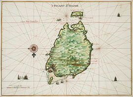 AMH-6800-NA Map of the island of San Thomé