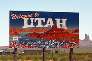 Utah Sign during RAAM 2015 by D Ramey Logan