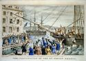 Boston Tea Party Currier colored