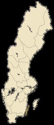 Sverigekarta-Landskap Öland