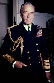 Lord Mountbatten Naval in colour Allan Warren
