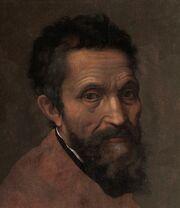 Miguel Ángel, por Daniele da Volterra (detalle)