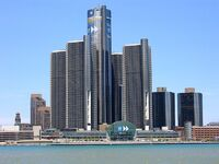 Headquarters of GM in Detroit