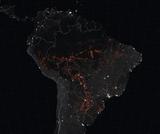 Amazon fire satellite image