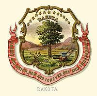 Dakota territory coat of arms (illustrated, 1876)