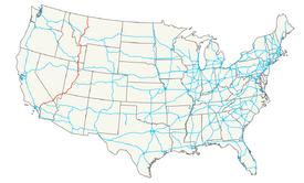 Interstate 15 map