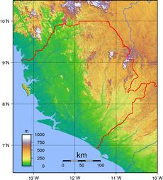 Sierra Leone Topography