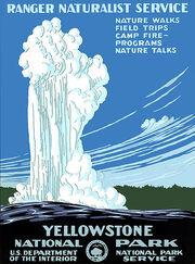 Yellowstone Natl Park poster 1938