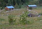 Abandoned log cabins, Independence, CO