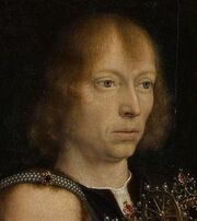 Gerard David selfportrait in The Virgin among the Virgins