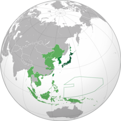 Japanese Empire (orthographic projection)