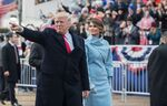 Inaugural parade Donald Trump and Melania Trump 01-20-17