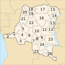 Provinces de la République démocratique du Congo - 2005