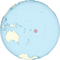 Niue on the globe (Polynesia centered).png