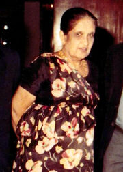Sirimavo Ratwatte Dias Bandaranayaka (1916-2000) (Hon.Sirimavo Bandaranaike with Hon.Lalith Athulathmudali Crop)