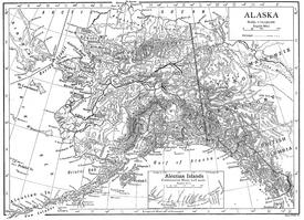1911 Britannica map of Alaska