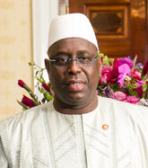 Macky Sall with Obamas 2014 (cropped)