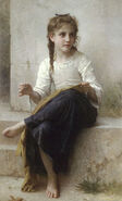 William-Adolphe Bouguereau (1825-1905) - Sewing (1898)