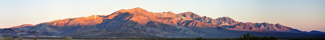 Bare Mountain Nevada panorama