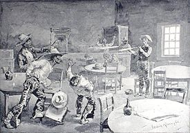 """""""Them Three Mexicans Is Eliminated"""" by Frederic Remington 1897"""