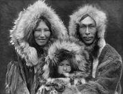 Inupiat Family from Noatak, Alaska, 1929, Edward S. Curtis (restored)