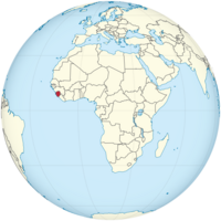 Sierra Leone on the globe (Africa centered).png