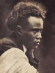 Jean-Joseph Rabearivelo wearing a lamba