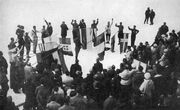 Athlete's oath at 1924 Winter Olympics