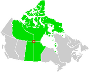 Canada Four Corners map