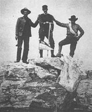 Shive Spalding and Petersen on top of Grand Teton 1898