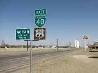 Old Route 66, Adrian Texas