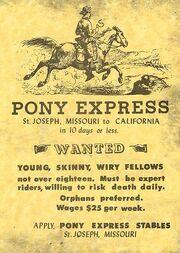 Pony ExpressAdvert
