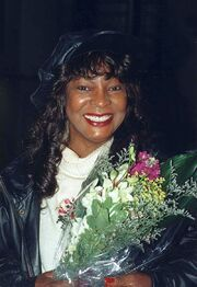 MARTHA REEVES with flowers