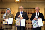 Flickr - Government Press Office (GPO) - THE NOBEL PEACE PRIZE LAUREATES FOR 1994 IN OSLO.