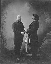 Othniel C Marsh and Red Cloud in New Haven Connecticut