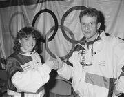 Yvonne van Gennip and Leo Visser 1988