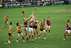 Stoppage in an AFL game