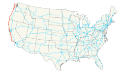 US 101 map