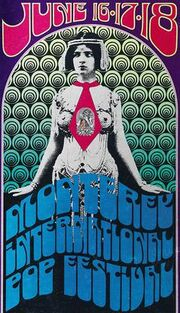 Monterey International Pop Music Festival poster