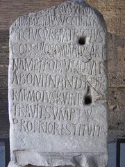 Rome Colosseum inscription 2