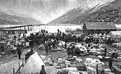 Dyea Waterfront March 1898 (Maslan) 1
