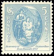 Virginia Dare 5c 1937 issue