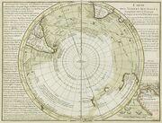 Antarctica, Bouvet Island, discovery map 1739