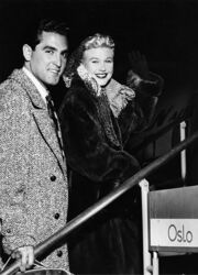 Film star Ginger Rogers and her husband 1950s
