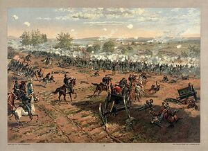 Thure de Thulstrup - L. Prang and Co. - Battle of Gettysburg - Restoration by Adam Cuerden