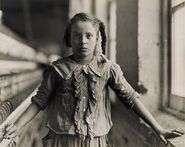 Hine, Lewis, Adolescent Girl, a Spinner, in a Carolina Cotton Mill, 1908