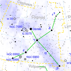 Cygnus constellation map