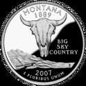 Montana quarter, reverse side, 2007