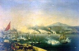 Naval Battle of Navarino by Garneray