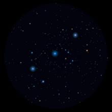 Cintura di Orione binocolo
